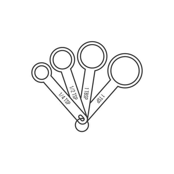 Best Measuring Spoons Illustrations, Royalty.