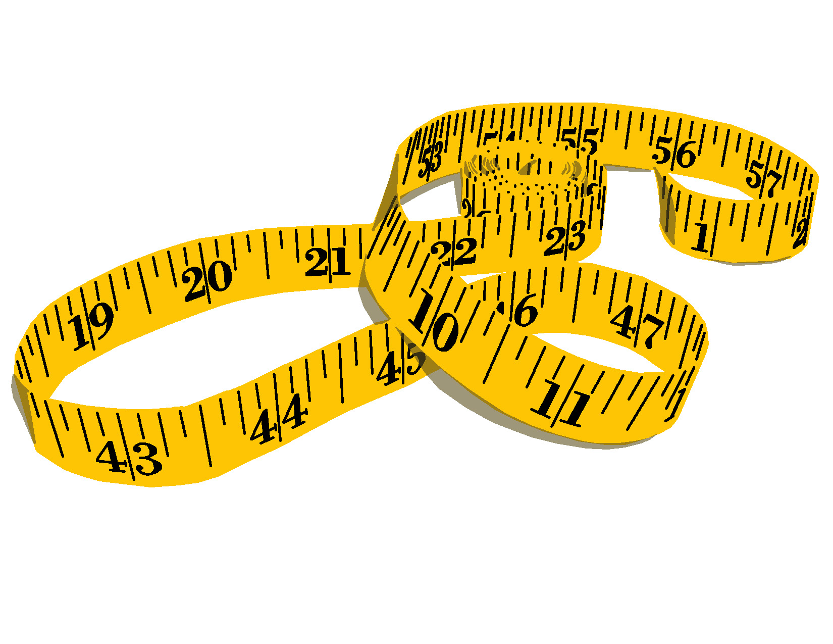 Sewing Measuring Tape Clipart.