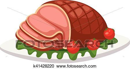 Meatloaf vector illustration. Clipart.