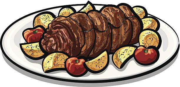 Best Meatloaf Illustrations, Royalty.