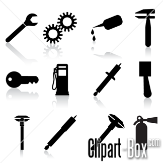 CLIPART MECHANICAL ICONS.
