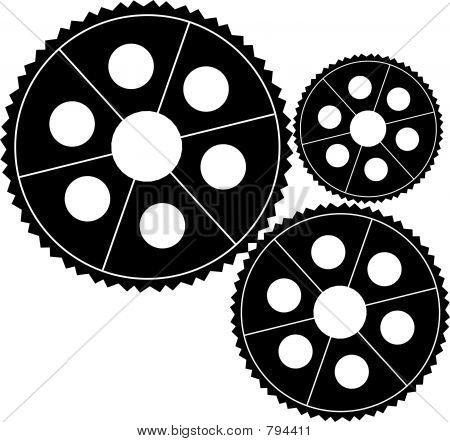 Mechanical Gears Clipart.