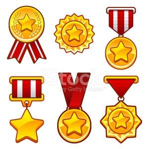 Medaillen mit Stern Clipart Image.