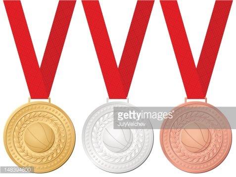 Medaillen Basketball premium clipart.