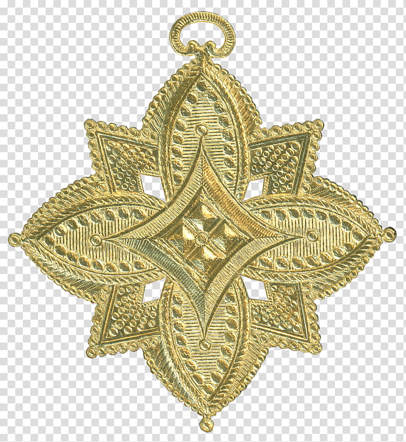 German Dresden Gold Paper Medallion Ornament , gold.