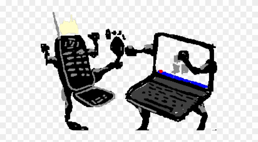 Laptop Clipart Cell Phone.