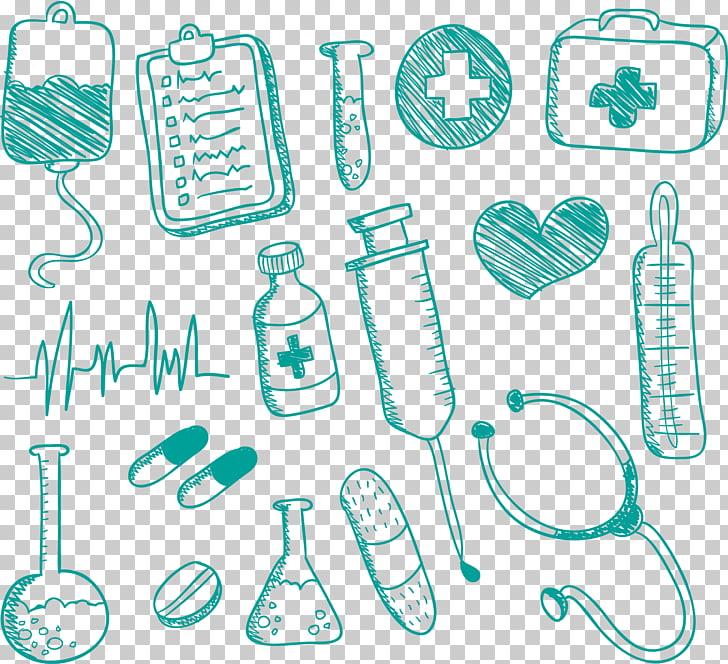 Medicine Nursing Drawing Doodle, Medical Supplies artwork.