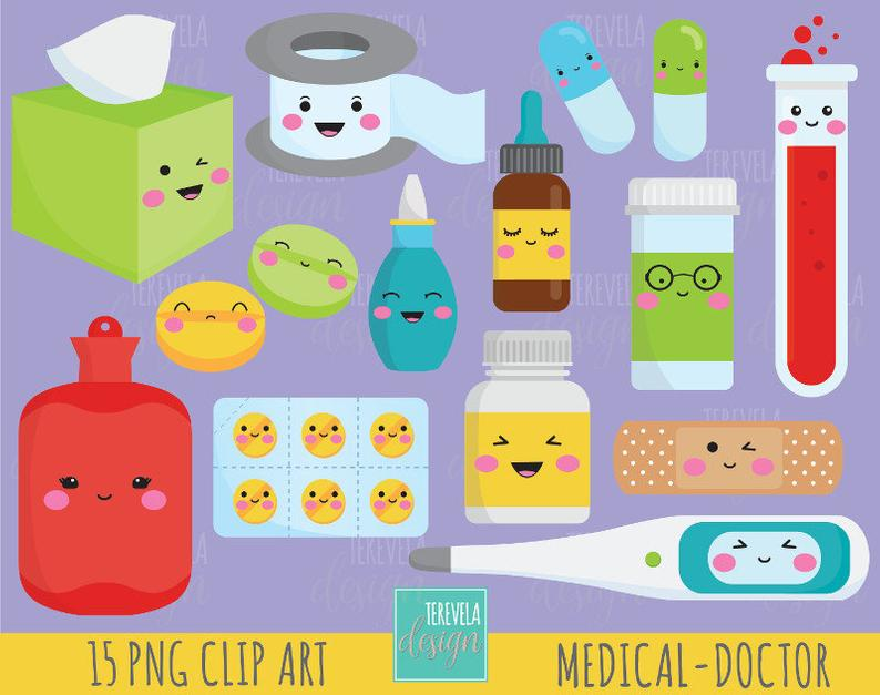 50% SALE DOCTOR clipart, medicine clipart, kawaii clipart, commercial use,  health clipart, medical graphics, healthcare clipart/cute graphic.