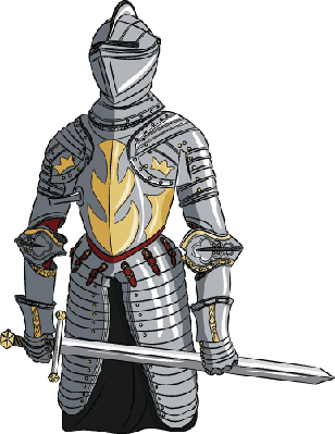 Medieval Knight with Sword.