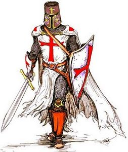 Medieval knights knight templar image vector clip art.