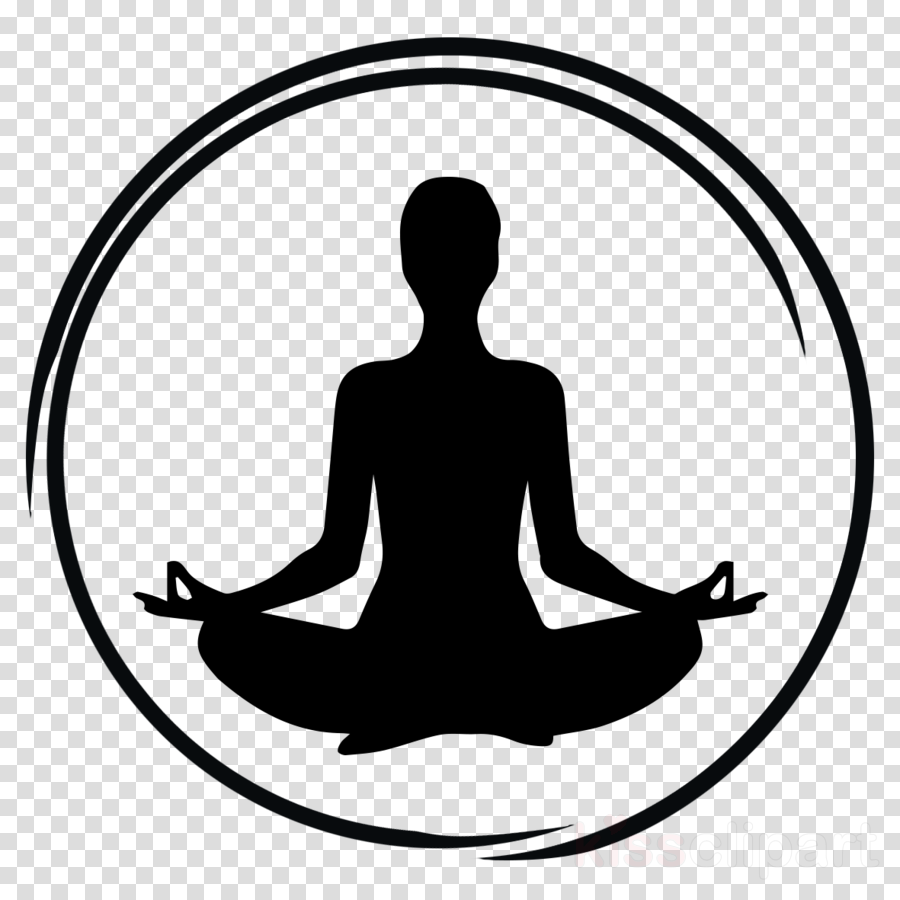 meditation silhouette physical fitness clip art circle.