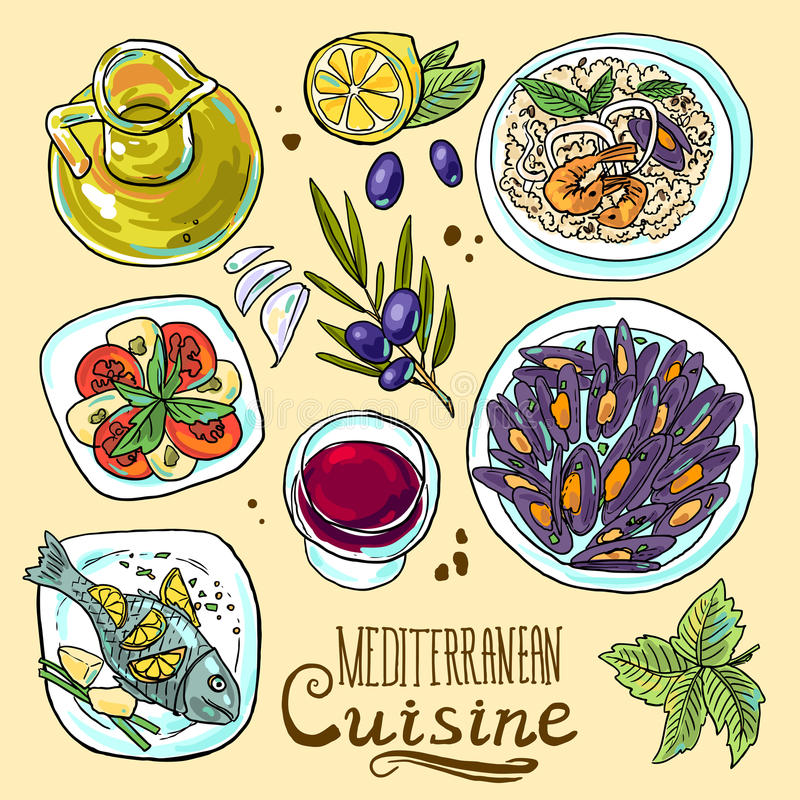 Mediterranean Food Clipart.