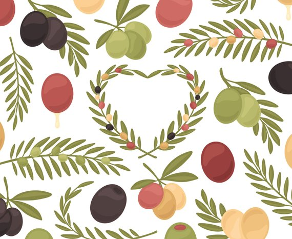 Olive Clipart, Fruit Clipart, Olive Oil Clipart, Olive.