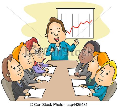 Clipart Meeting Cartoon.