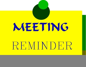 Meeting Reminder Clipart.