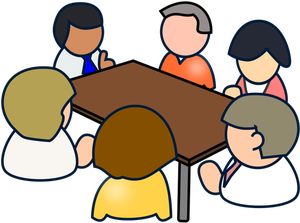 12640 meeting in progress clip art.