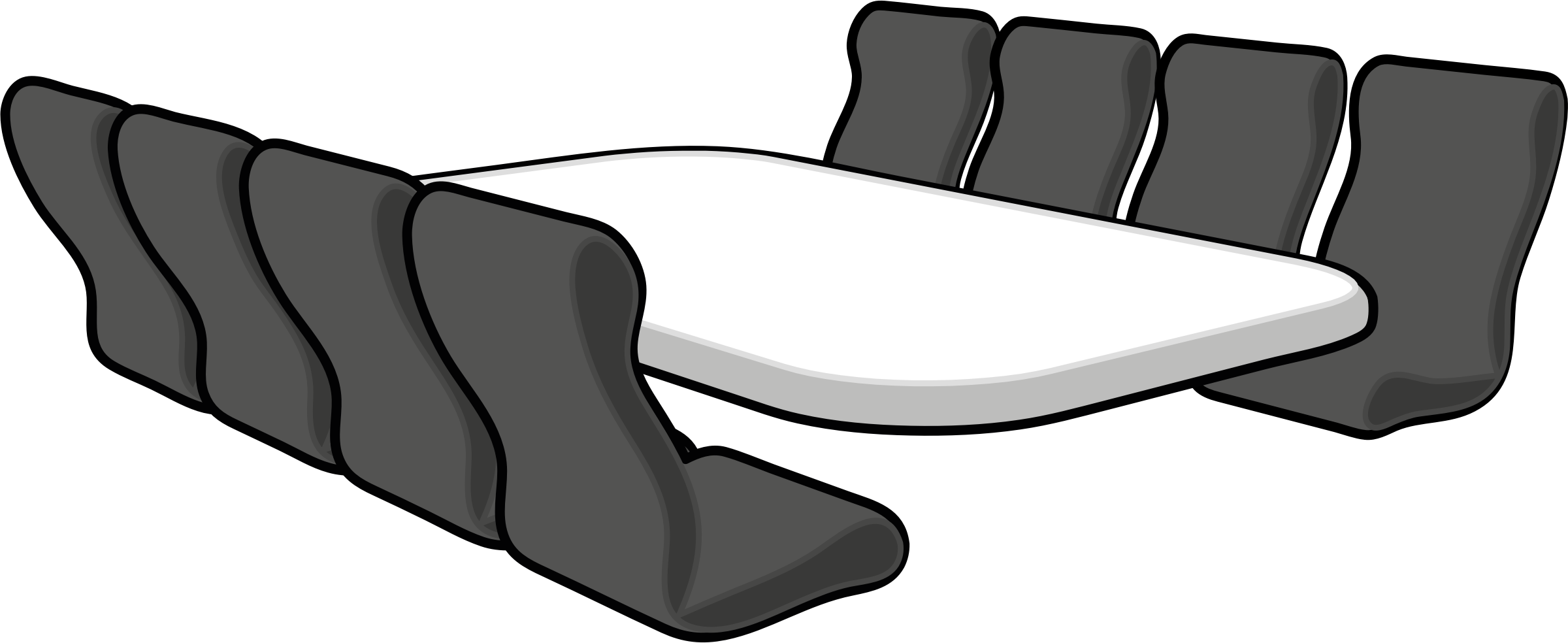 Meeting Room with Seats vector clipart image.