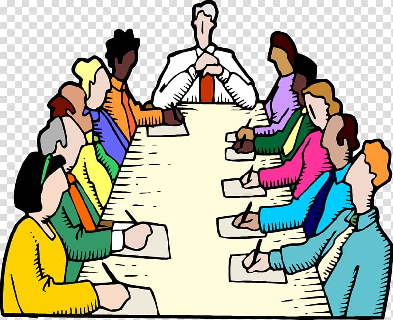 People meeting illustration, Parliamentary procedure Board.
