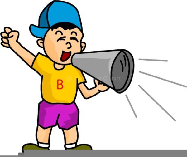Girl With Megaphone Clipart.