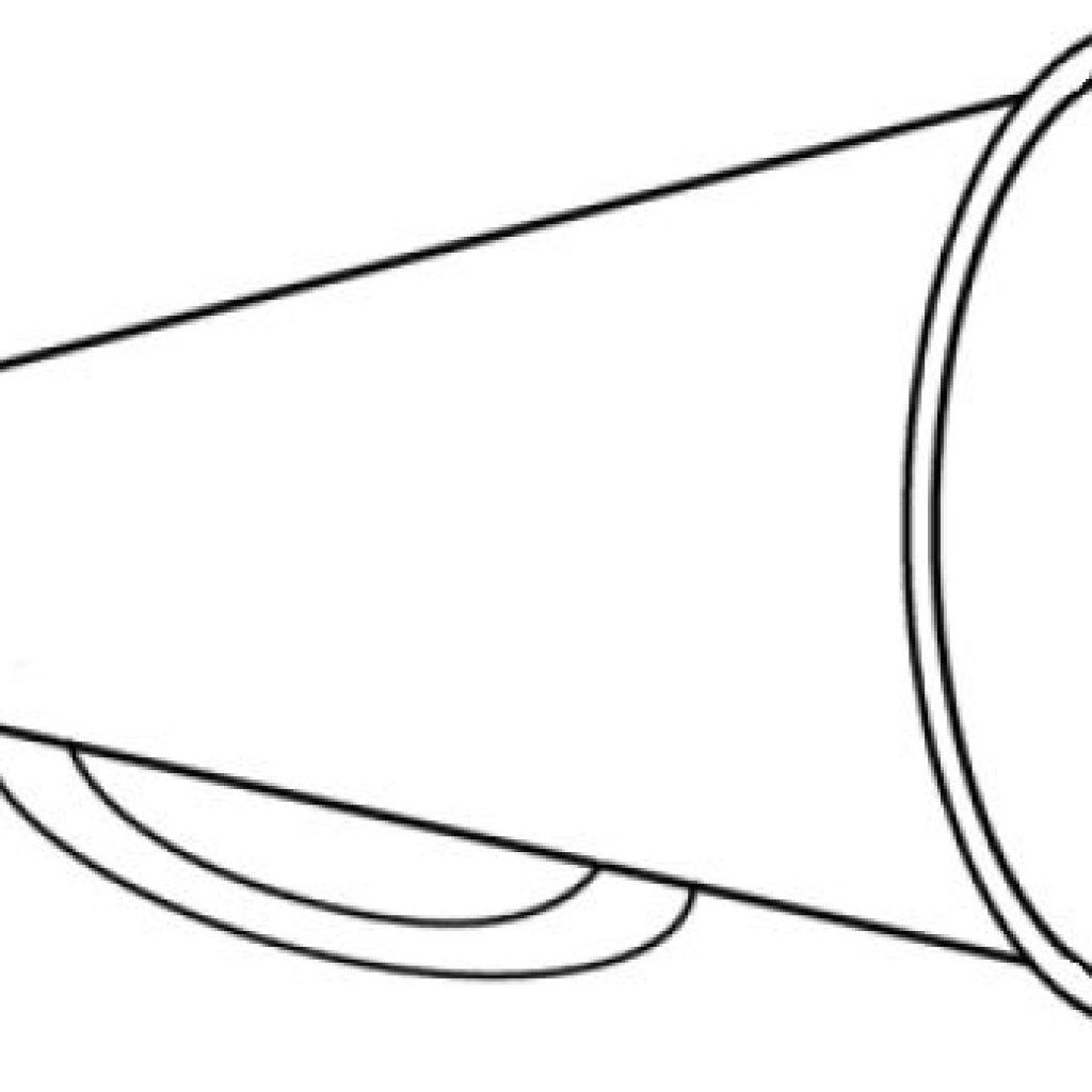Cheer Megaphone Drawing.
