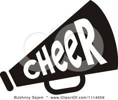 Cheer Megaphone Clip Art.