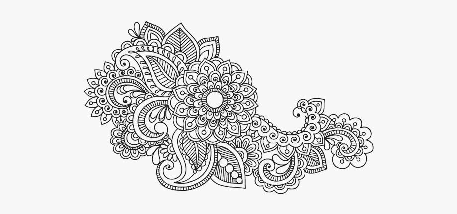 Paisley Pattern Ornament Textile Artwork Mandala Clipart.