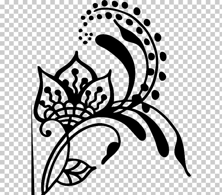 Henna Mehndi Drawing , flowers and whirlpools PNG clipart.