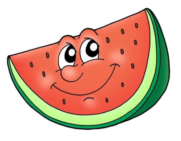 Melon Happy Face Clip Art Clipart.