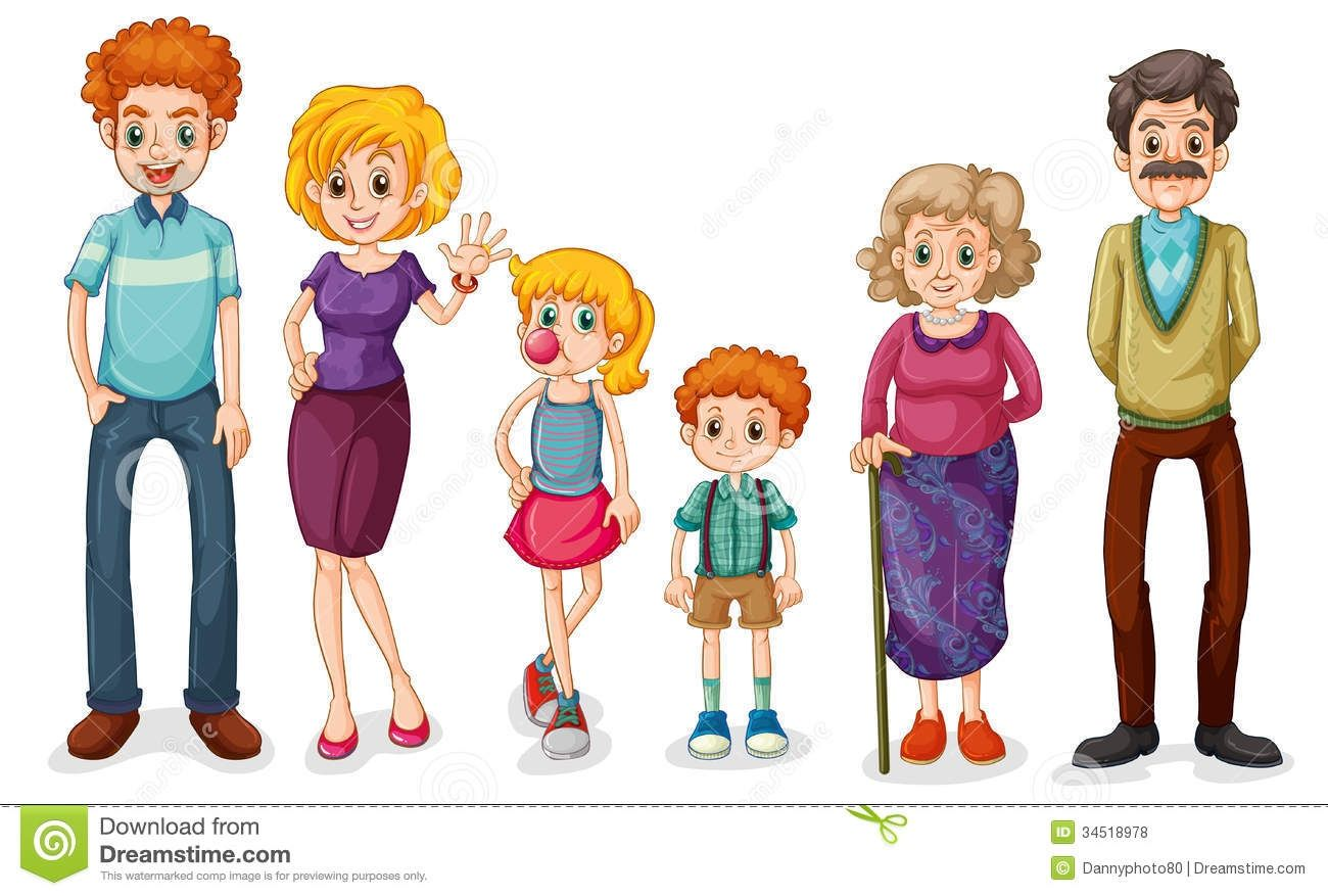 Clip Art of a Family Members.