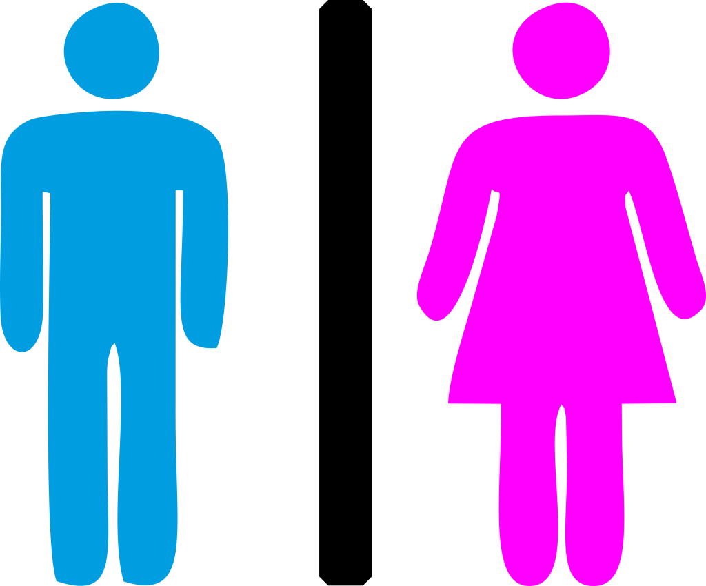 Men Women Toilet Sign Clipart Icon.