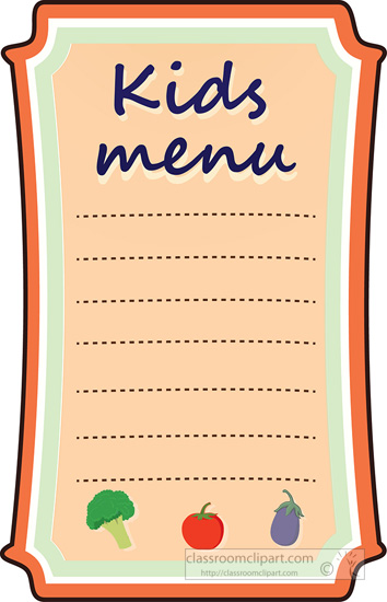 What's On The Menu Clipart.