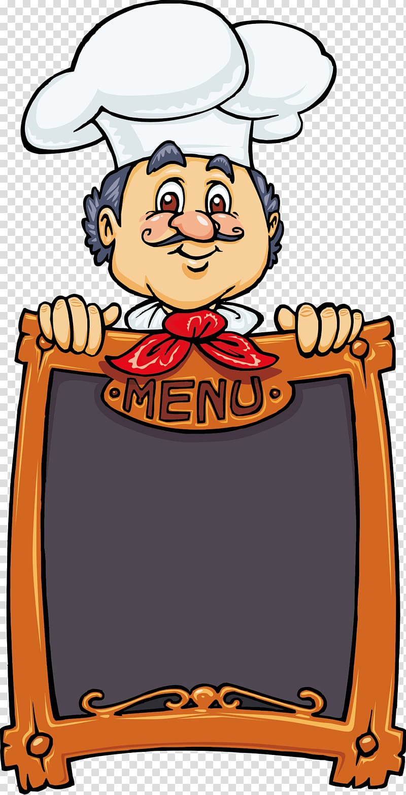 Chef Menu Pizza Cooking, cooking transparent background PNG clipart.