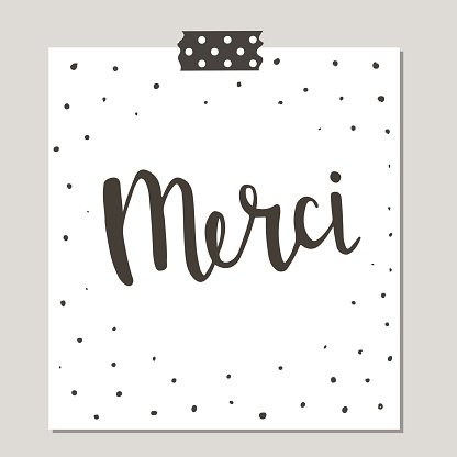 Merci Hand Drawn Brush premium clipart.