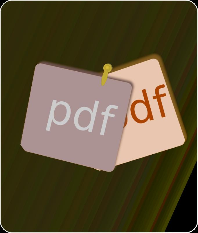 Free Clipart: PDF Merge.