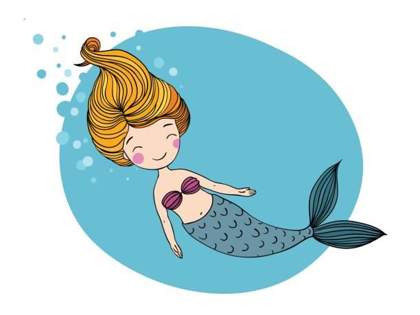 Best Mermaid Illustrations, Royalty.