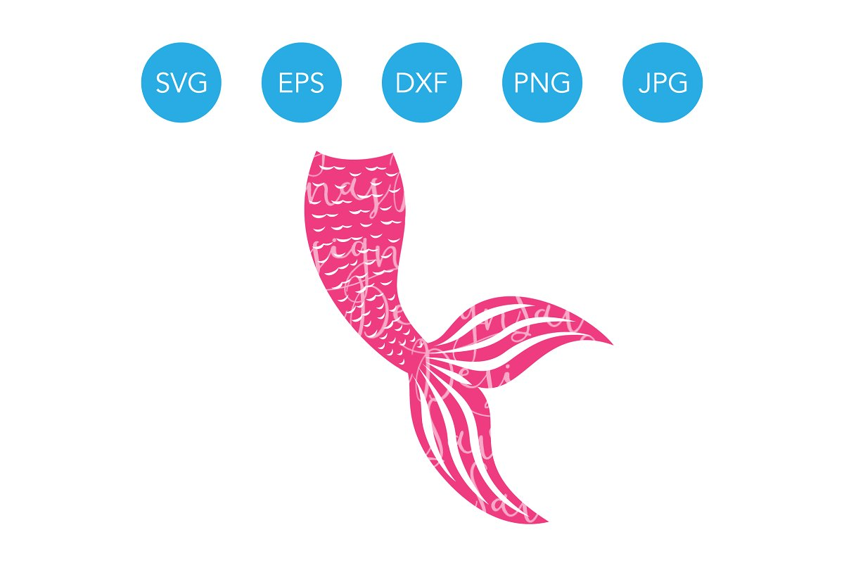 Mermaid Tail SVG Mermaid Clipart PNG.