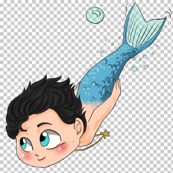 Mermaid Merman Cartoon , Baby swim,Children swim, merman.