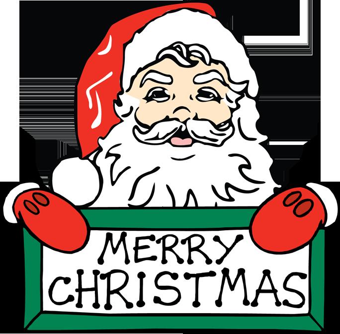 Merry Christmas Clip Art Words.