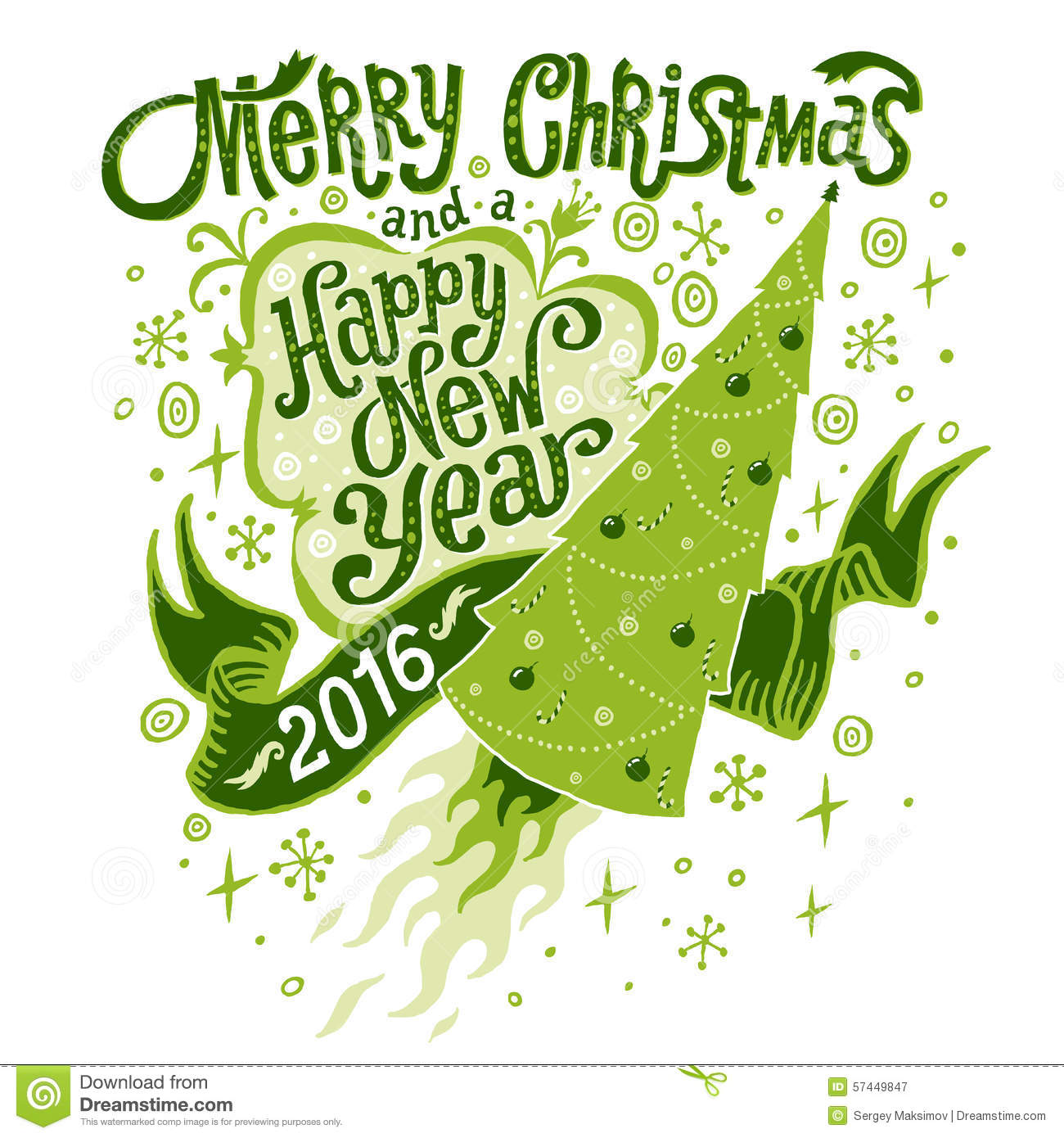 Christmas 2015 happy new year 2016 clipart.