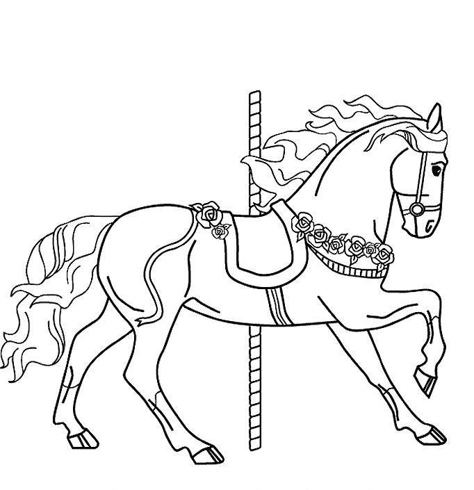 merry go round horse template clipart merry go round horse to color clipground