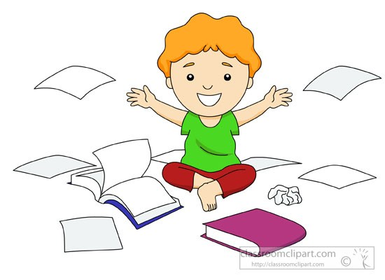 Toddler creating mess with books and paper » Clipart Portal.
