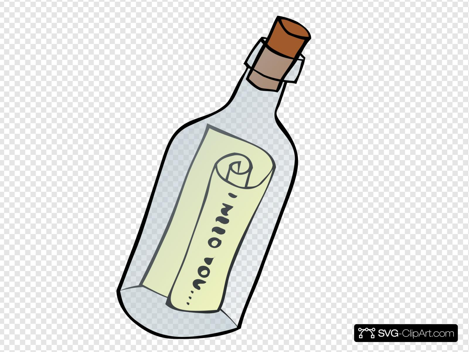 Message In A Bottle Clip art, Icon and SVG.