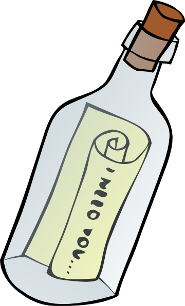 Message In A Bottle Clip Art.