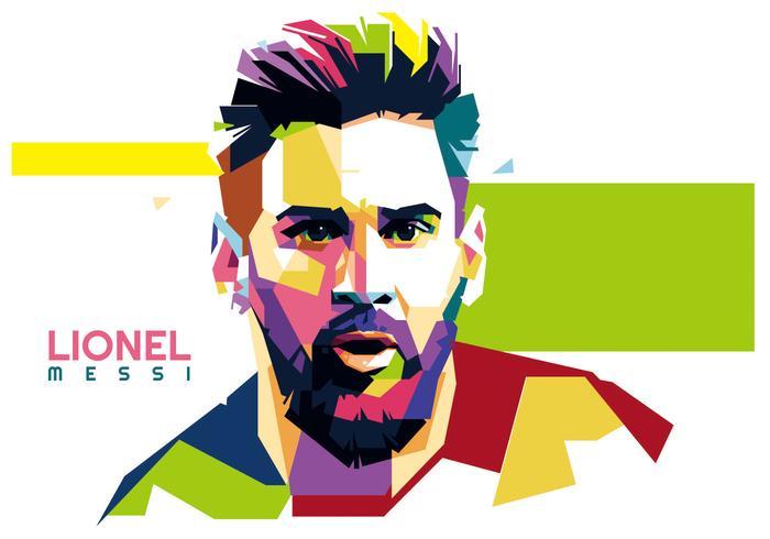 Lionel Messi vector WPAP.