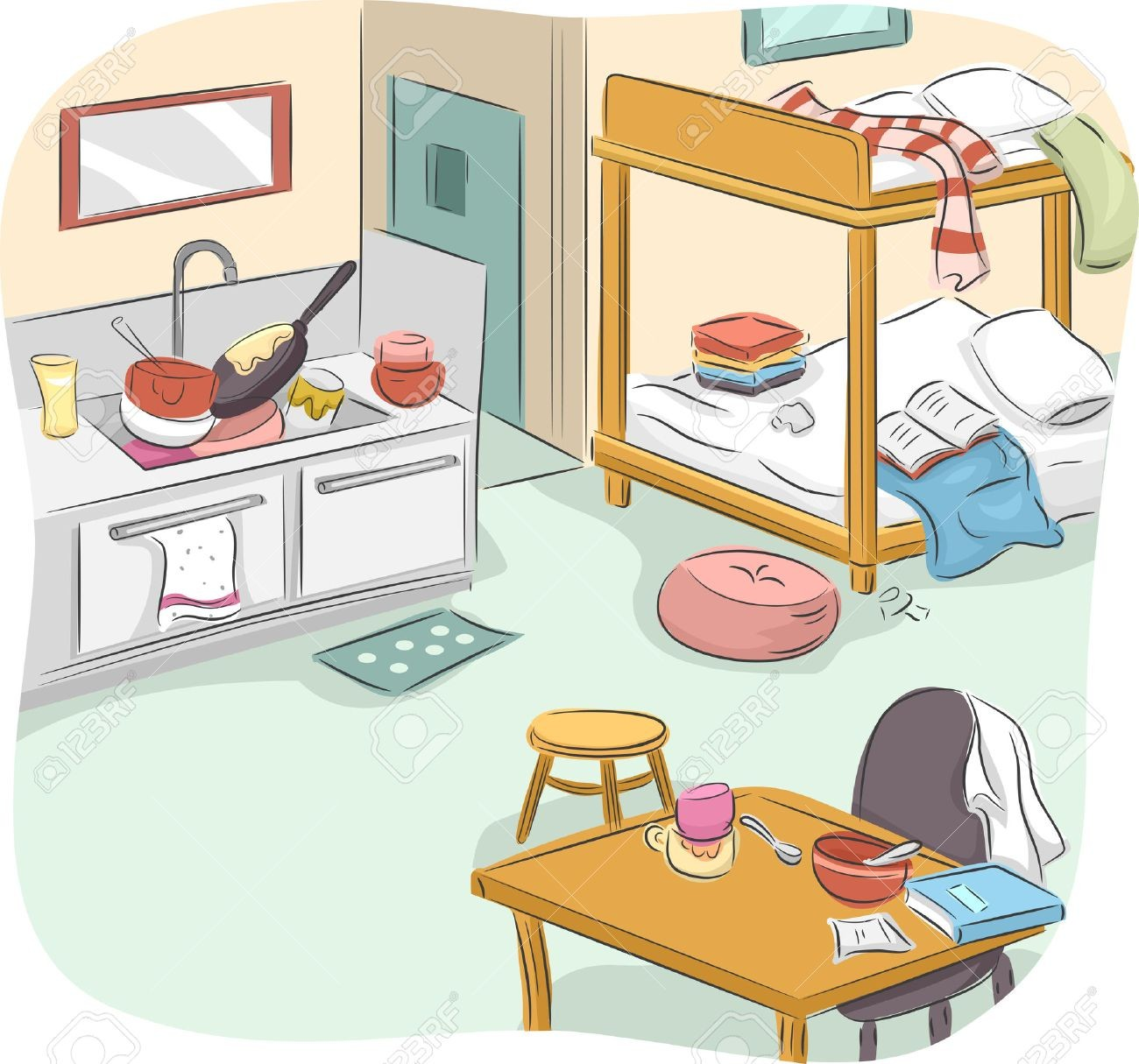 On Clipart Messy House 36815868 Illustration Of A Studio Type.