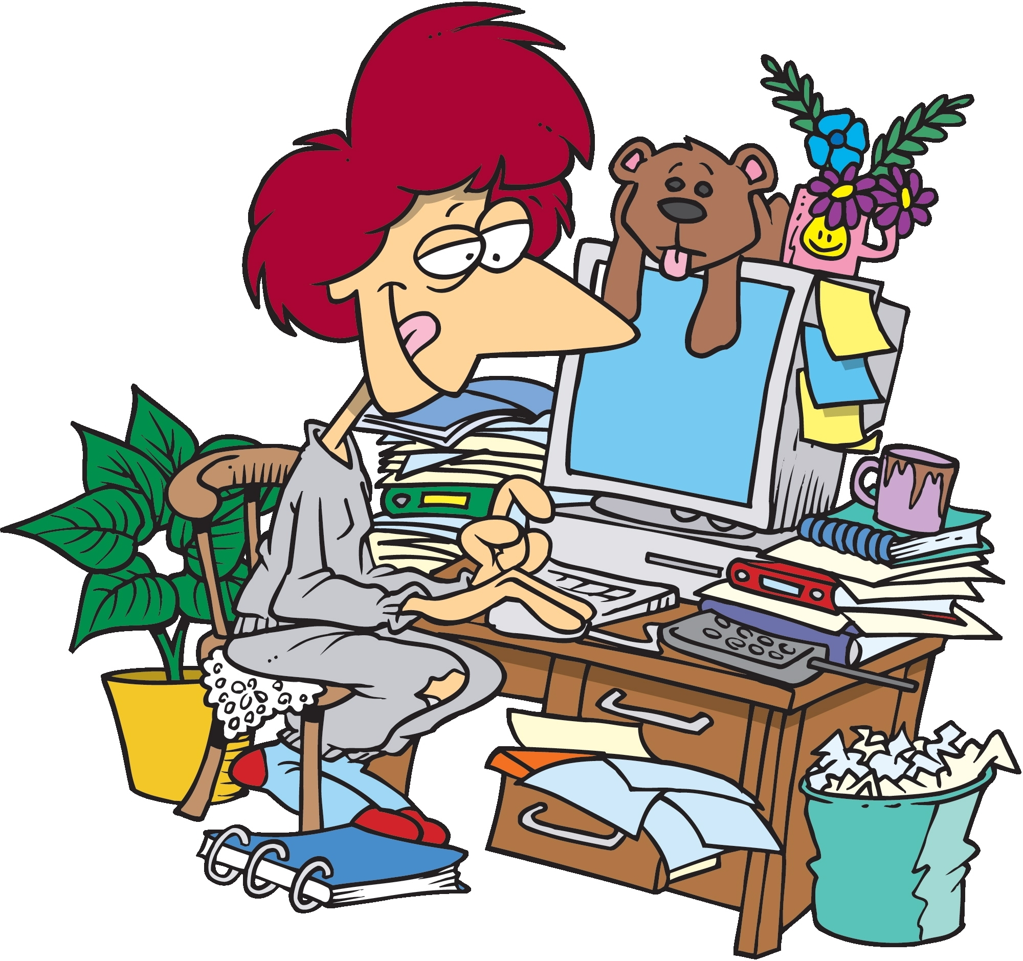 Messy Office Clipart.
