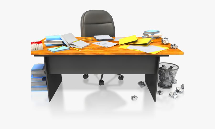 Messy Desk Clipart.