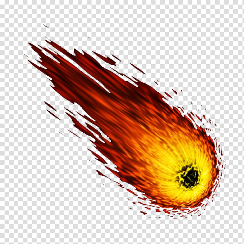 Meteor , meteor Flame, Flame meteor transparent background.