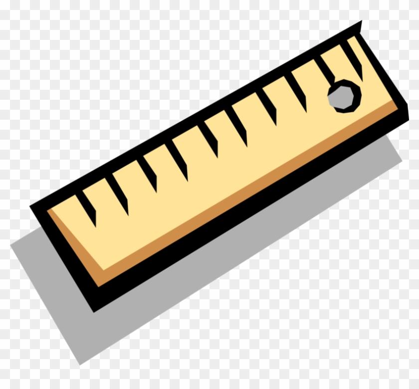 Vector Illustration Of Ruler, Rule Or Line Gauge Straight.