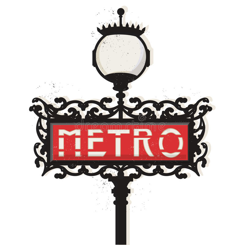 Paris Metro Stock Illustrations.